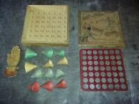 jeu FOOTITT ET CHOCOLAT ou LES CHAPEAUX CASCADEURS- JJF vers 1900 -bois défauts