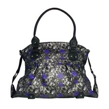IRON FIST Muerte Punk Skull & Rose Tote Bag Handbag Charcoal NWT Ladies Womens