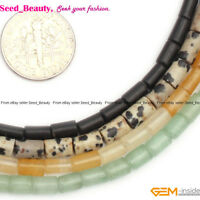 """4x6mm Assorted Stones Column Smooth Loose Beads For Jewelry Making Strand 15"""""""