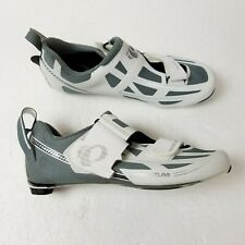 Pearl Izumi Tri Fly Elite V6 Cycling Shoes Womens 7 EU 37.5 White Gray Triathlon