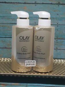 Olay Bodyscience Body Wash Cleansing Brightening Creme Niacinamide B3+ Vitamin C