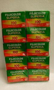 FUJI COLOR SUPERIA 100 36 EXP FILM NOS 35mm C-41 10 PACK FUJICOLOR