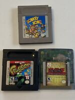 Nintendo Gameboy Game Boy Color Donkey Kong Frogger YuGiOh Video Game Lot 3 A528