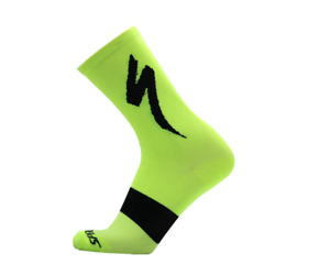 Specialized SL Tall Socks S-Works Cycling Socks UK SIZE 39-44 _ Lime