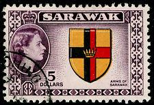 Sarawak SG202, $5 Multicolore, bene usato, cd. CAT £ 19.