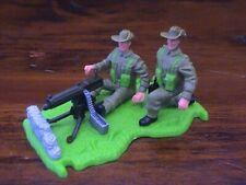 "Timpo WW2 Australian/ ""Digger"" Vickers Machine Gun Nest - 1970's"