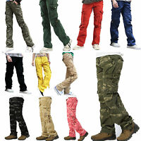 Womens Ladies Combat Casual Cargo Cotton Military Boyfriend Trousers Pants Jeans