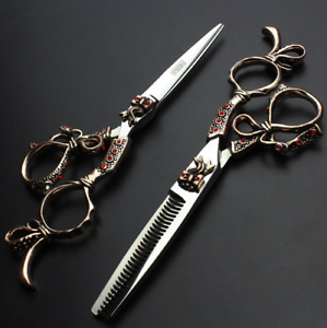 Barber Scissors Set Hairdressing Scissors Professional Thinning Shears 6 Inch