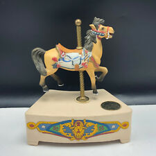 Tobin Fraley Carousel Horse Willitts vintage figurine music box stars stripes