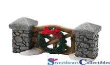 Department 56 Snow Village Woodland Stone Gate 2012
