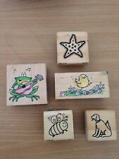 Timber/ Rubber Stamp / Animals  / 5 Stamps / Made In USA, Australia