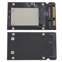 """Black Mini Pcie PCI-E SSD mSATA to 2.5"""" SATA3 Convertor mSATA-SATA Adapter Card"""