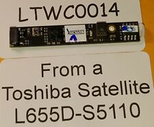 #LTWC0014 - ** TESTED ** Webcam from a TOSHIBA SATELLITE L655D-S5110 AI009055003