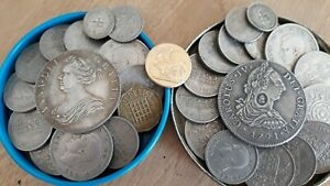OLD BRITISH COINS JOB LOT / TINS  X 2 OF   OLD COLLECTION - BRITISH!