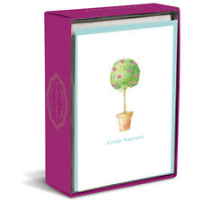 Simply Charmed Topiary 10 Boxed Blank Note Cards by Graphique de France