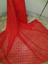 1M Designer slight Stretch paisley RED Lace Fabric 60 Inch Wide