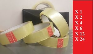 CLEAR ULTRA  STICKY  SELLO TAPE CELLOTAPE 22MM X ~30M PACKAGING 1 2 4 6 24 ROLLS