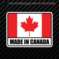 Made in Canada Sticker Self Adhesive Vinyl Canadian CA