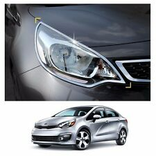 Head Lamp Garnish Molding Trim Chrome for KIA RIO 4-Door 2012-2016