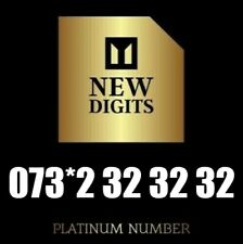 GOLD UNIQUE DIAMOND VIP BUSINESS MOBILE PHONE NUMBER SIM CARD 32 32 32