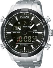 PULSAR PW6003X1 Combination Stainless Steel 100M WR 2 Year Guarantee RRP £125.00
