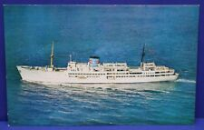 Vintage Mint Unused Postcard S/S Ariadne Cruise Ship Eastern Steamship Corp