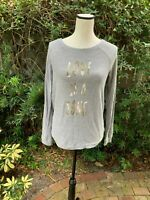 Disney Women's Size S Gray Sequin Love Is A Song Lauren Conrad Pull Over Sweater