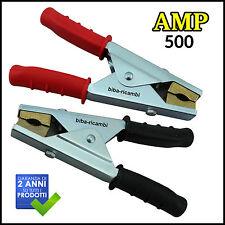 KIT 4 PINZE PROFESSIONALE RINFORZATE CAVI BATTERIA PVC 500 AMP
