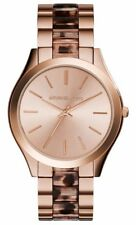 Michael Kors Women's Slim Runway Blush Tortoise Rose Gold-Tone Watch MK4301