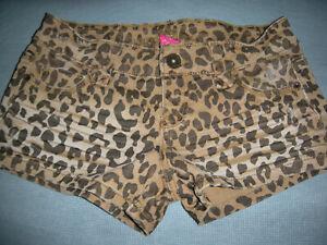 Animal Print Leopard Style SHORTS JUNIOR SIZE 1