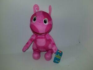 """Nick Jr Backyardigans Uniqua 8"""" Pink Plush Stuffed Animal Toy Just Play"""