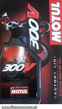 MOTUL 300v 300 V OFF ROAD RACING 15w60 Factory Dl MOTORE HONDA CRF CR-F 450