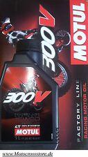 Motul 300V 300 V OFF ROAD COURSE 15W60 Factory L'HUILE DE MOTEUR HONDA CRF CR-F