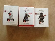 Hallmark Keepsake Lego Star Wars Imperial StormTrooper, Boba Fett, Darth Vader