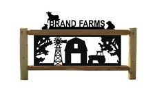 COWS - BARNS - TRACTORS-WINDMILLS - FARM & RANCH SIGNS