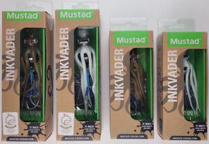 4 Mustad InkVader Octopus Jigs MIVK-S (2 colors, 120g, 150g) Jigging LOT [V2]