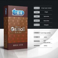 MingLiu 10 Kondome 45mm Breite Ultra Enge Partikelspitze Gepunkteter G-Punkt XXS