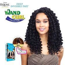 Freetress Equal Wand Curl Lace Front Wig Deep Invisible Part - PLUSH CURL