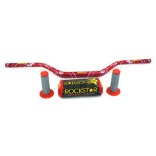 "CNC 3D printing 1 1/8"" Handlebar Fat Bar Grips Pad Universal MX Red Dirt Bike"