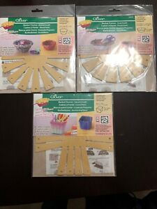 Basket Making Frames 3 Kits Round Small & Oval Small & Square Small New Clover