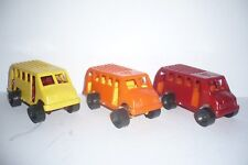 Mexican Passenger City Bus Lot Of 3 - Plastic toy Car - Truck Made in Mexico