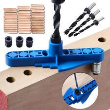 Plantilla Kit Carpintería 6/8/10mm Pocket Hole Guía Taladro Localizador de agujero de ángulo oblicuo.