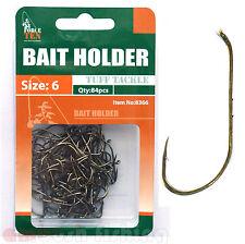 BRONZED BAIT HOLDER HOOKS Size #6 X 84pcs  FISHING TACKLE / Bream