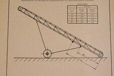 antiguo DDR Manual de instrucciones Bandas transportadoras A1 H
