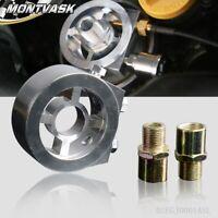 Racing Sport JDM Aluminum Oil/Gauge Filter Sandwich Adapter Plate Kit  SILVER