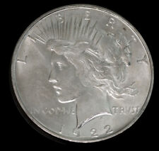 1922 D-Mint $1 Peace Silver Dollar BU Gem Beauty Rare Superb Luster No S/H *2736