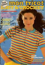 Mon Tricot MD 76 Knitting Crochet Patterns Blouse Shawl Camisole Doily Home 1980