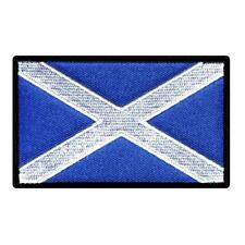 """SCOTLAND FLAG IRON ON PATCH 3"""" Embroidered Applique Scottish St Andrews Cross"""