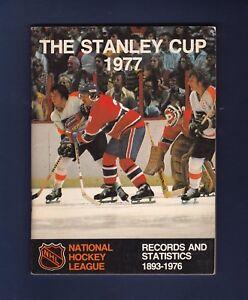 1977 National Hockey League The Stanley Cup Guide w/Ken Dryden & Bobby Clarke