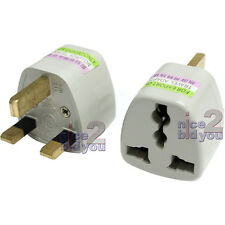 50x US EU AU NZ to UK Travel Adapter Adaptor AC Power Plug Connector Converter